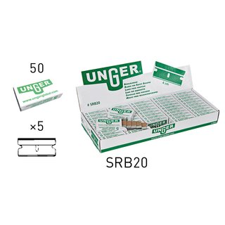 Unger 1.5 / 4cm Safety Scraper Replacement Blades No. 9  (Case of 250)