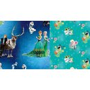 Cotton Jersey Fabric Frozen Anna & Elsa Digital Print