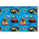 Cotton Jersey Fabric firefighter Sam Digital Print blue car