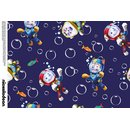 Cotton Jersey Fabric Paw Patrol Digital Print dark blue