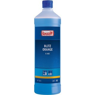 Buzil G481 Blitz Orange 1 liter / 33.8 oz Neutral all-purpose cleaner with fresh orange scent